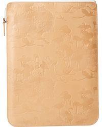 Scotch & Soda - Leather Flamingo Small Laptop Case - Lyst
