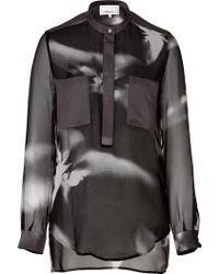 3.1 Phillip Lim Transparent Silk Blouse - Lyst