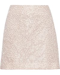 Theyskens' Theory Seedo Beaded Crepe Mini Skirt - Lyst