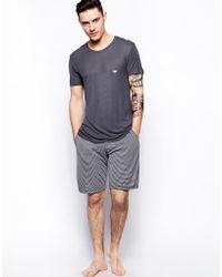 Emporio Armani Pajamas Tshirt Lounge Shorts - Lyst