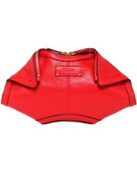 Alexander McQueen Small De Manta Nappa Leather Clutch - Lyst