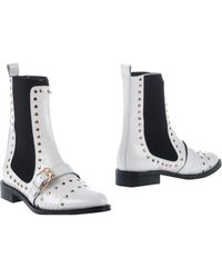 Opening Ceremony White Ankle Boots - Lyst
