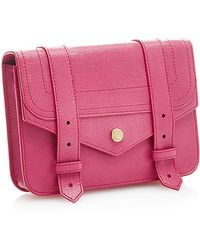 Proenza Schouler Ps1 Large Chain Leather Wallet In Raspberry - Lyst