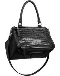 Givenchy Pandora Crocodile-Embossed Shoulder Bag - Lyst
