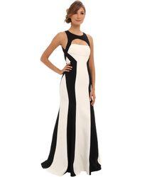 BCBGMAXAZRIA Bethany Colorblock Gown - Lyst