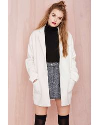 Nasty Gal Sugarcoated Cocoon Coat - Lyst