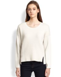J Brand Helena Mixed-Knit Sweater - Lyst