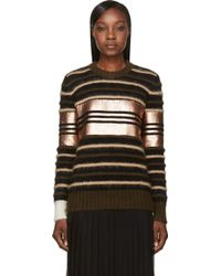 Givenchy Black and Copper Striped Mohair Sweater - Lyst