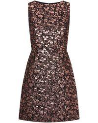 Alice + Olivia Dot Metallic Sleeveless Dress - Lyst