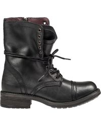 Steve Madden Troopa-20 Lace-Up Boot Black Leather - Lyst