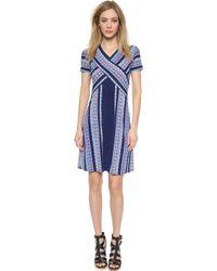 BCBGMAXAZRIA Jeanine Dress - Blue Depths Combo - Lyst
