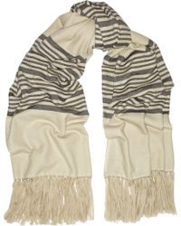 Isabel Marant Edith Striped Cashmere and Wool-blend Scarf - Lyst