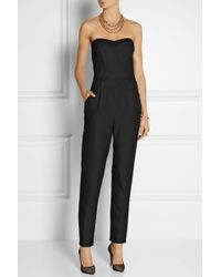 Milly Twill Jumpsuit - Lyst