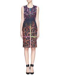 Preen By Thornton Bregazzi Faded Floral and Stripe Print Sleeveless Sheath Dress - Lyst
