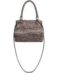 Givenchy 'Pandora' Small Crinkle Leather Bag gray - Lyst