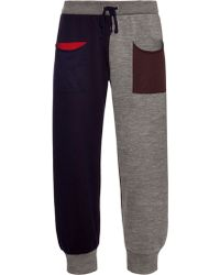 Pleats Please Issey Miyake | Colour-block Cropped Track Pants | Lyst