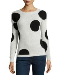 Philosophy Cashmere - Cashmere Polka-dot Sweater - Lyst