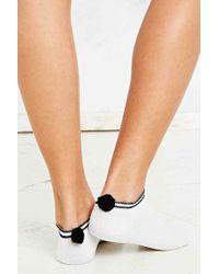 Urban Outfitters - Stripe Pom Pom Trainer Socks - Lyst