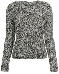Paul Smith | Women's Grey Chunky Twisted Cable-knit Sweater | Lyst