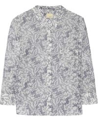 Band Of Outsiders Printed Cotton and Silk-blend Shirt - Lyst