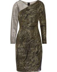 Noir Sachin & Babi | Olivia Metallic Embroidered Swiss-dot Tulle Dress | Lyst