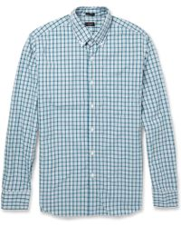 J.Crew Check Washedcotton Buttondown Collar Shirt - Lyst