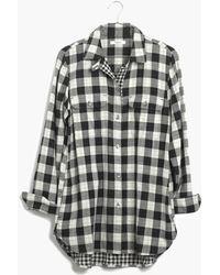 Madewell Ex-boyfriend Shirt in Shaw Plaid - Lyst