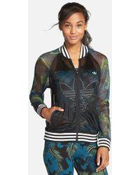 Adidas Originals 'Hawaii' Mesh Track Jacket green - Lyst