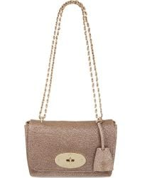 Mulberry Lily Metallic Leather Cross-body Bag - Lyst