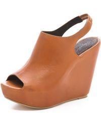 Elizabeth And James Holly Platform Sandals - Lyst
