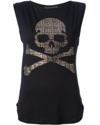 Philipp Plein Skull And Crossbones Top - Lyst