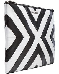 Saint Laurent Letters Medium Zipped Clutch - Lyst