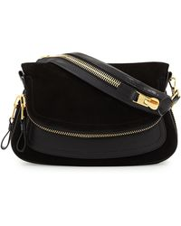 Tom Ford Jennifer Medium Suede-leather Shoulder Bag - Lyst