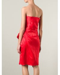 Lanvin - Bow Detail Strapless Dress - Lyst