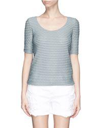 Armani Dot Stripe Jacquard T-Shirt - Lyst