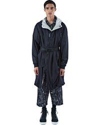 MariusPetrus - Men's Long Reversible Parka Jacket In Black - Lyst