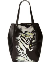 Just Cavalli Tiger in Love Printed Fabric Tote - Lyst