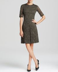 Cynthia Steffe Dress - Round Neck Elbow Sleeve Lace - Lyst
