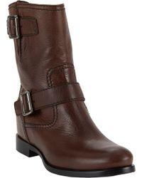 Prada Doublebuckle Moto Boots - Lyst