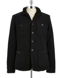 John Varvatos Fleece Lined Cardigan - Lyst
