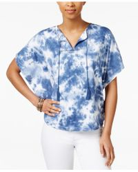 American Living - Tie-dyed Poncho Top, Only At Macy's - Lyst