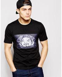 Evisu - T-Shirt Godhead Patch Front - Lyst