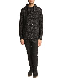Diesel Shurakin Black Zipped Sweater - Lyst