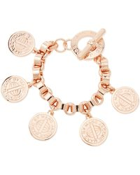 Marc By Marc Jacobs Toggleclasp Charm Bracelet Rose Golden - Lyst