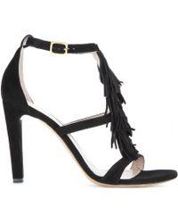 Chloé Black Suede Sandals - Lyst