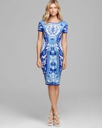 Cynthia Steffe Dress Briella Short Sleeve Jacquard - Lyst