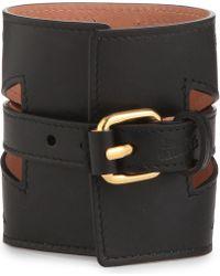 Jean Paul Gaultier Leather Cuff Bracelet Black - Lyst