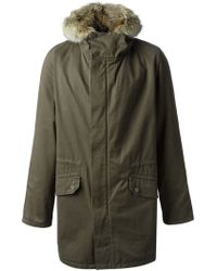 Yves Salomon Rabbit and Coyote Fur Lining Parka - Lyst