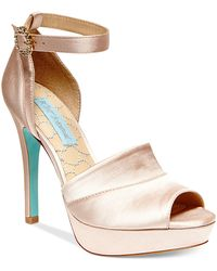 Betsey Johnson Blue by Silk Platform Evening Sandals - Lyst