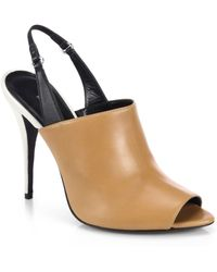 Narciso Rodriguez Cindy Leather Slingback Sandals - Lyst